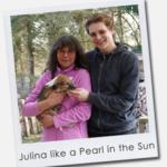 Julina like a Pearl in the Sun