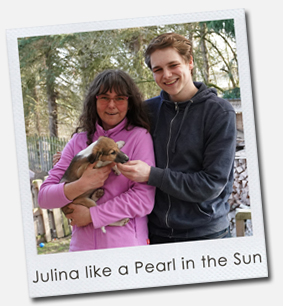 Julina like a Pearl in the Sun
