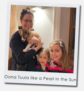 Oona Tuula like a Pearl in the Sun